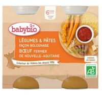 Babybio Pot Légumes Pâtes Bolognaise Boeuf à ODOS
