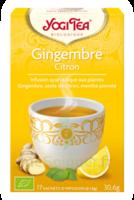 Yogi Tea Tisane Ayurvédique Gingembre Citron Bio 17 Sachets/1,8g à ODOS