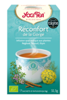 Yogi Tea Tisane Ayurvédique Réconfort De La Gorge Bio 17 Sachets/1,8g à ODOS