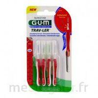 Gum Trav - Ler, 0,8 Mm, Manche Rouge , Blister 4 à ODOS