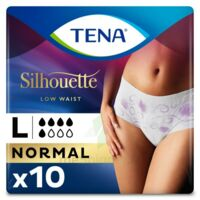 Tena Lady Silhouette Slip Absorbant Blanc Normal Large Paquet/10 à ODOS